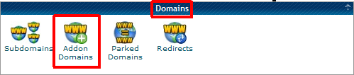 How to find cPanel Add-on Domains
